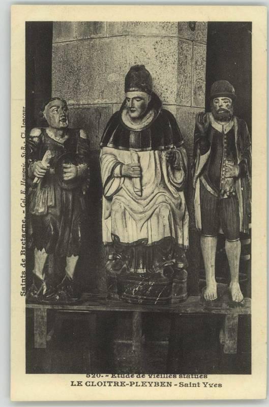 Etude de vieilles statues, Saint-Yves [début XXe] (2 Fi 33/1)